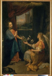 Barocci, Federico (1526-1612): Annunciation. Vatican, Pinacoteca*** Permission for usage must be provided in writing from Scala.