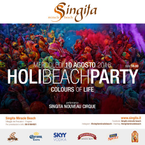 Singita Beach Holi Fest @ Singita Beach   Fregene   Lazio   Italia