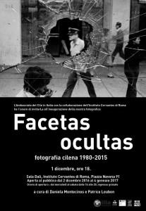 """""""Facetas Ocultas"""" il Cile degli ultimi 40 anni in una mostra fotografica nov 29, 2016 @ Istituto Cervantes"""
