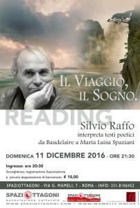 """""""Il viaggio, il sogno"""": Silvio Raffo interpreta testi poetici a Spaziottagoni live"""