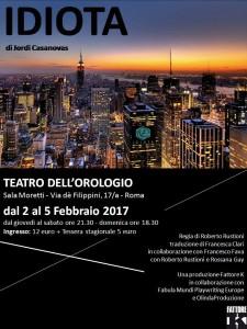 """""""Idiota"""", all'Orologio il dramma della crisi @ Teatro dell'Orologio"""