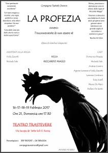 """""""La profezia"""", uno spettacolo incalzante al Teatro Trastevere @ Teatro Trastevere"""