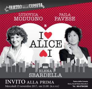 """""""I ♥ ALICE ♥ I"""" di Amy Conroy al Teatro della Cometa"""