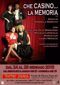 """""""Che casino… la memoria"""" al Teatro l'Aura la commedia da non perdere"""