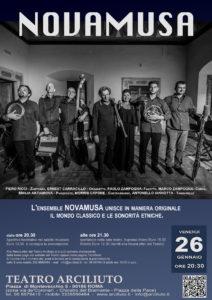 I Novamusa portano la musica tradizionale molisana al Teatro Arciliuto