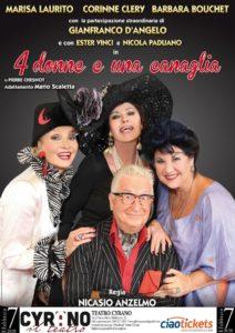 """""""4 donne e una canaglia"""" di Pierre Chesnot al Teatro Cyrano"""