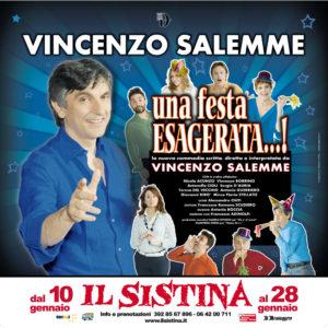 """Vincenzo Salemme al Sistina con """"Una festa esagerata"""""""