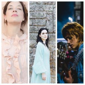 """""""Quando arrivano le ragazze"""", tre delle cantautrici più promettenti del paese: Erica Mou, Chiara Dello Iacovo e Chiara Vidonis"""