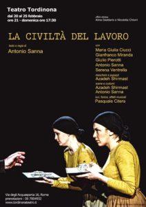 """La civiltà del lavoro"" di Antonio Gavino Sanna al Teatro Tordinona"