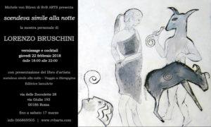 """""""Scendeva simile alla notte"""", la personale di Lorenzo Bruschini al Rvb Arts"""