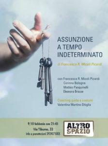 """""""Assunzione a tempo indeterminato"""" di Francesca Romana Miceli Picardi all'Altro Spazio"""
