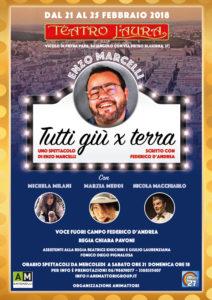 """""""Tutti giù per terra"""", al Teatro L'Aura con Michela Milani, Marzia Meddi e Nicola Macchiarlo"""
