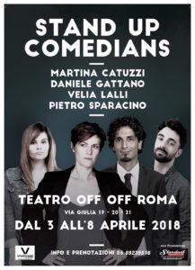 La comicità degli Stand Up Comdians arriva OFF/OFF Theatre