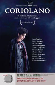 """""""Coriolano"""" di William Shakespeare, la tragedia dell'onore arriva al Sala Vignoli per la regia di Luca Avallone"""