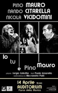 Pino Mauro, Nando Citarella e Nicola Vicidomini al Parco della Musica