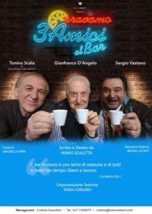 "Gianfranco D'Angelo e Sergio Vastano al Teatro Cyrano in ""Eravamo 3 amici al bar"""