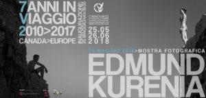 """Alla Galleria Canova22 arriva Edmund Kurenia con """"7 anni in viaggio 2010>2017 Europa>Canada""""."""