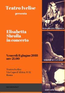 """Elisabetta Sbrolla sul palco per presentare """"Impronte"""""""