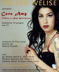 "Al teatro Ivelise il tributo ad Amy Winehouse: ""Cara Amy""."