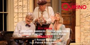"""""""Quartet"""" di Ronald Harwood al Quirino di Roma con la regia di Patrick Rossi Gastaldi"""