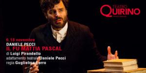"""Daniele Pecci è """"Il fu Mattia Pascal"""" al Quirino di Roma"""