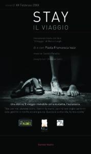 """All'Off Off Theatre continuano i lunedi speciale: """"Stay-Il viaggio"""" scritto e interpretato da Paola Francesca Iozzi"""