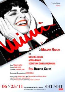 """Melania Giglio in """"Mimì in arte Mia Martini"""" all'OFF/OFF Theatre"""