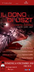"""""""Il Concerto Diabolico Ovvero il Dono di Listz"""" di e con Riccardo Barbera al Altrove Teatro Studio"""
