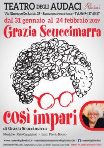Grazia Scuccimarra e la sua comicità tornano in scena agli Audaci di Roma