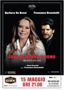 """Barbara De Rossi e Francesco Branchetti in scena al Ciak di Roma con """"Coro di donna e uomo"""""""