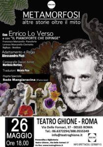 Enrico Lo Verso al Ghione con le Metamorfosi di Ovidio